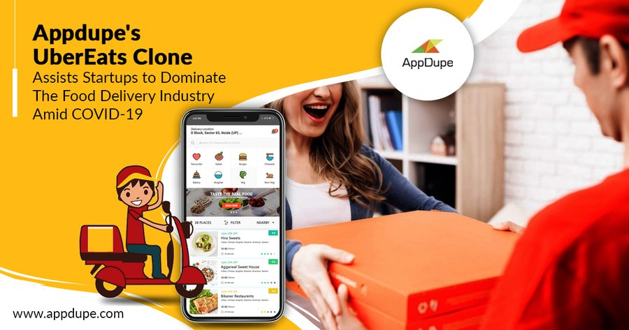 UberEats Clone - Startups Cater to Surging Food Delivery Demand With This Innovative Solution from Appdupe