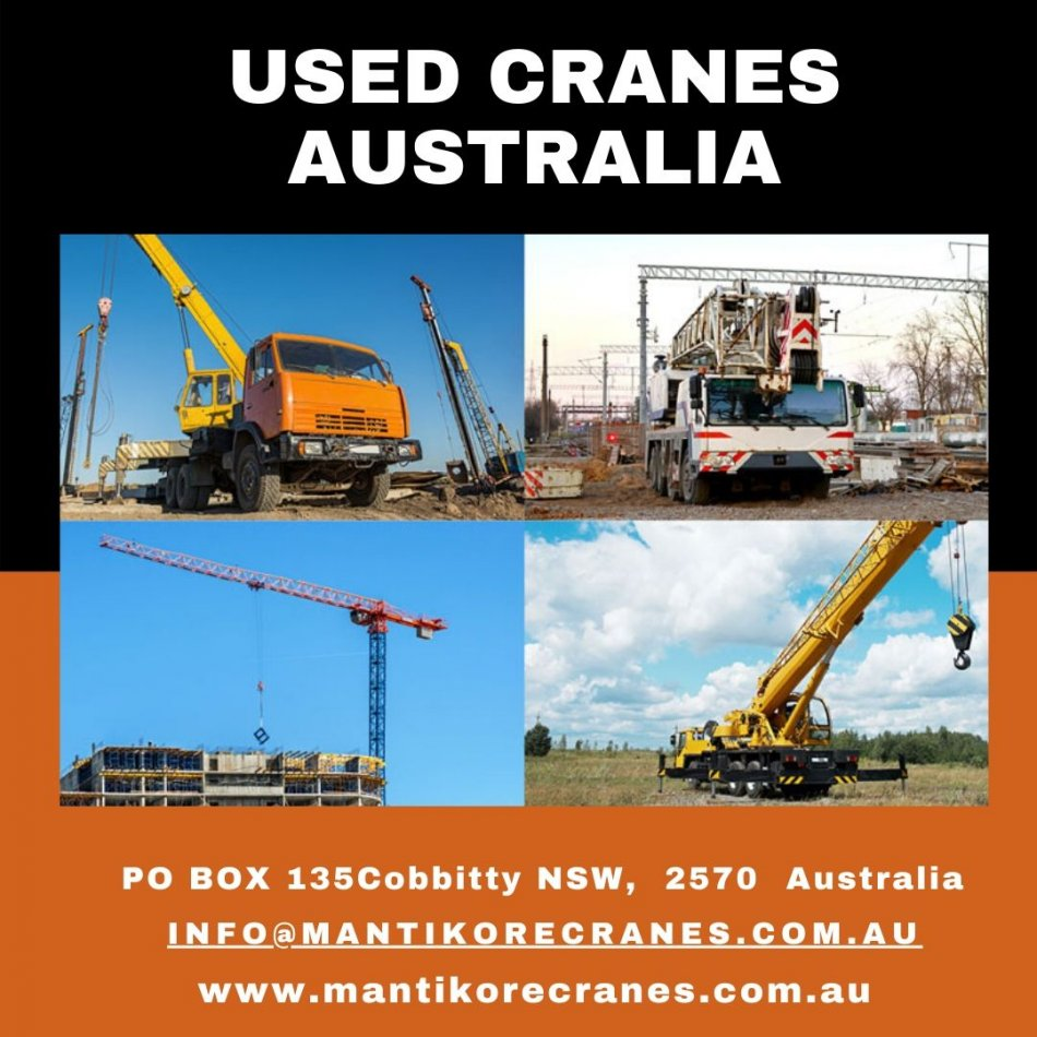 The vitality of used cranes Australia testing for businesses
