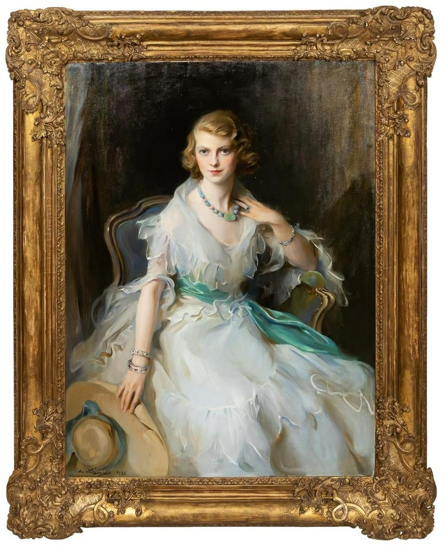 Oil Portrait Painting of Oonagh Guinness by Philip de László Soars to $324,500 at Ahlers & Ogletree Auction in Atlanta