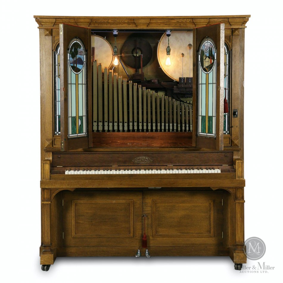 Big Beautiful Music Machines from The 1890s-1940s Dominate The List of Top Lots in Miller & Miller's Sept. 19th Auction