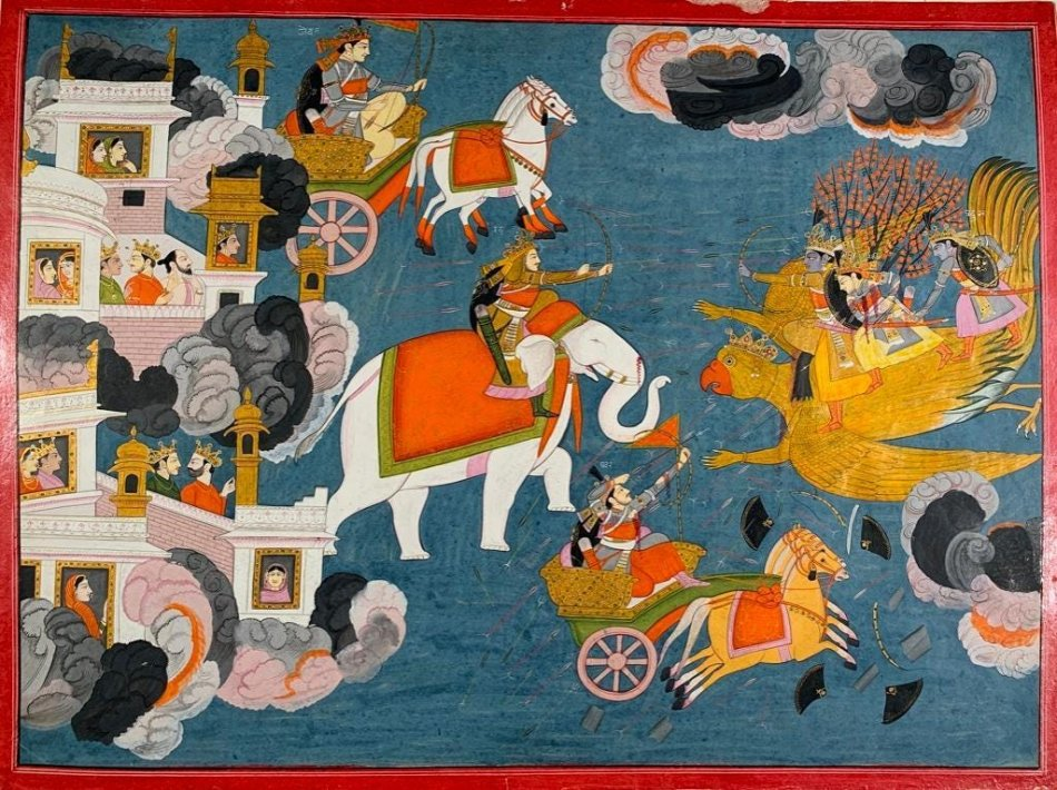 Indian Artists Purkhu of Kangra (active 1780-1820) and Badri Narayan (1929-2013) will be in Neue Auctions' Feb. 20 Sale