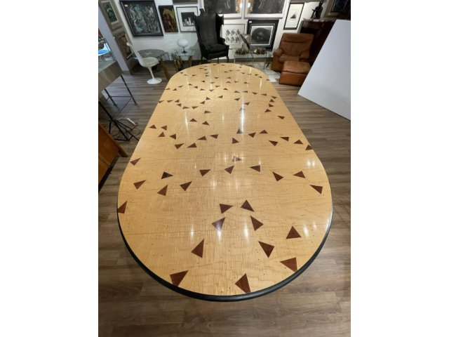 Important and Beautiful Dining Table Custom Designed by Wendell Castle (1932-2018) Gavels for $70,110 at Neue Auctions
