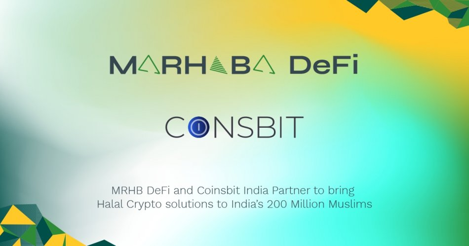 MRHB DeFi and Coinsbit India Partner to Bring Halal Crypto to India's 200 Million Muslims