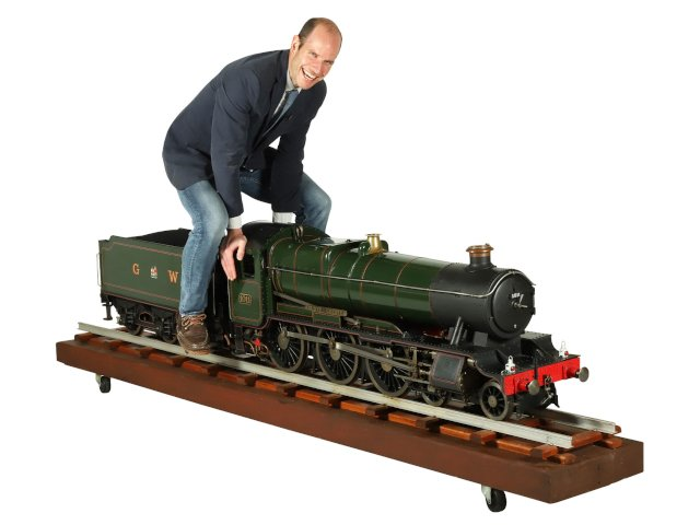 A 7 1/4 Inch Gauge Model Steam Engine of The Great Western Railway 4-6-0 Locomotive and Tender Brings $15,340 at Auction